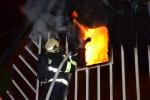 Požár rekreační chalupy v obci Vítkovice v Krkonoších