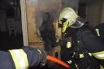 Požár domu v Líšném
