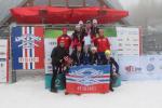 Vítězné družstvo ČKS SKI Jilemnice v závodě smíšených družstev