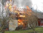 Požár rodinného domu v Proseči pod Ještědem