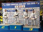 Předání bronzové medaile Julii Zárybnické