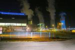 Elektrárna Tušimice - střecha kotelny a chladící věž