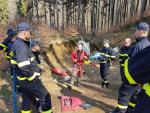 Výcvik lezeckého družstva ze stanice Liberec