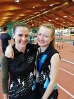 Eliška Martínková s trenérkou Kateřinou Čermákovou