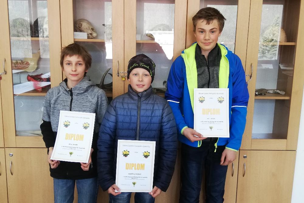 Žáci turnovské ZŠ Žižkova v okresním kole Biologické olympiády