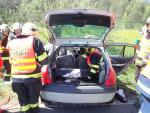 Dopravní nehoda v obci Václaví, která je součástí Rovenska pod Troskami