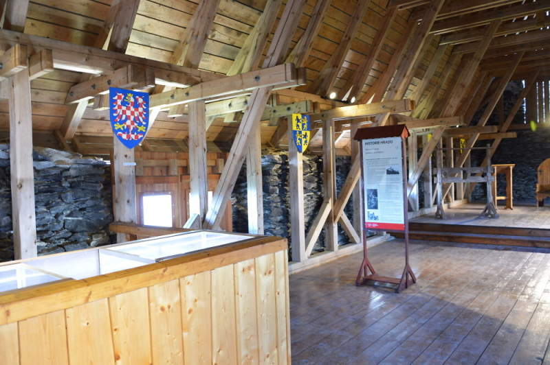 Templářský palác na Bezdězu<br />Autor: Archiv NPÚ, ÚPS na Sychrově. Model hradu Bezděz