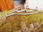 Instalace modelu hradu Bezděz na hradě Bezděz