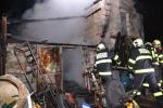 Požár kůlny v Oldřichově na Hranicích