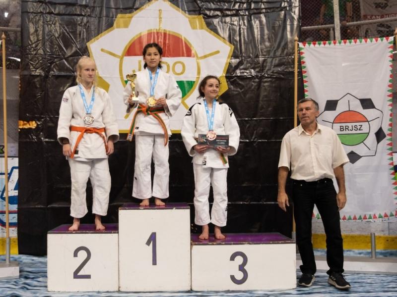 Turnovská judistka Kateřina Burešová na turnaji v Budapešti