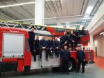 Liberečtí hasiči při převzetí ceny Magirus Award 2018 v německém Ulmu