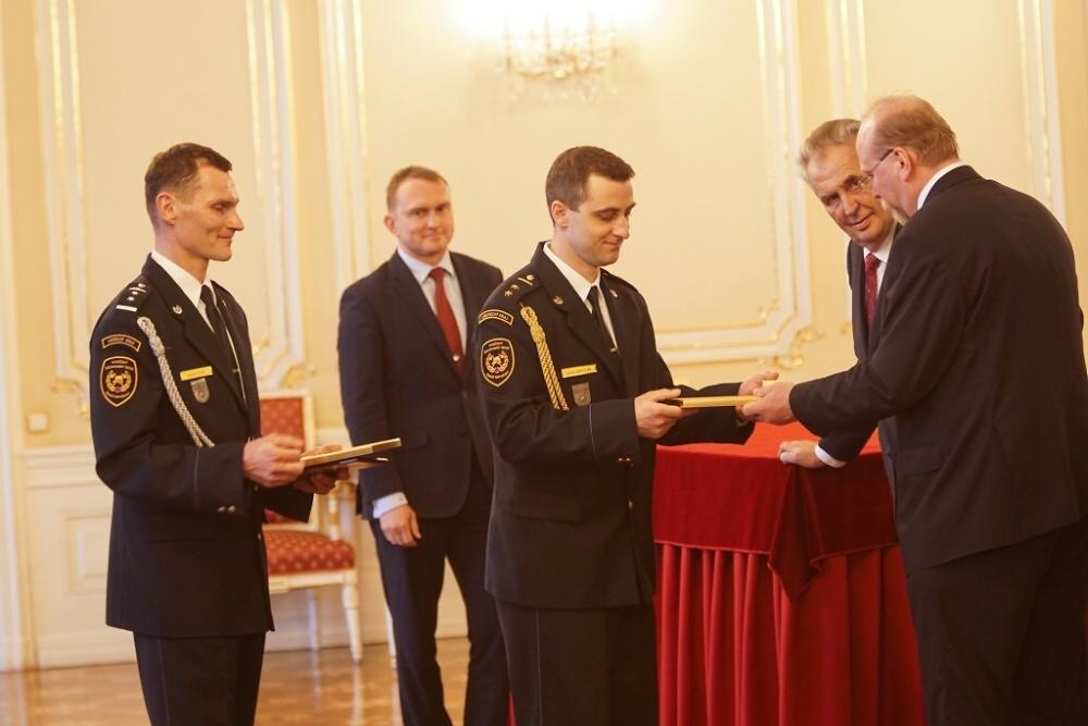 Slavnostní předání Zlatého záchranářského kříže za rok 2018<br />Autor: Karel Čermák