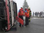 Cvičení složek IZS s nehodou autobusu