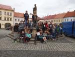 Źáci 8.A ze ZŠ v Žižkově ulici v Turnově na literárně-historickém kurzu v Jičíně, Sobotce a Liberci