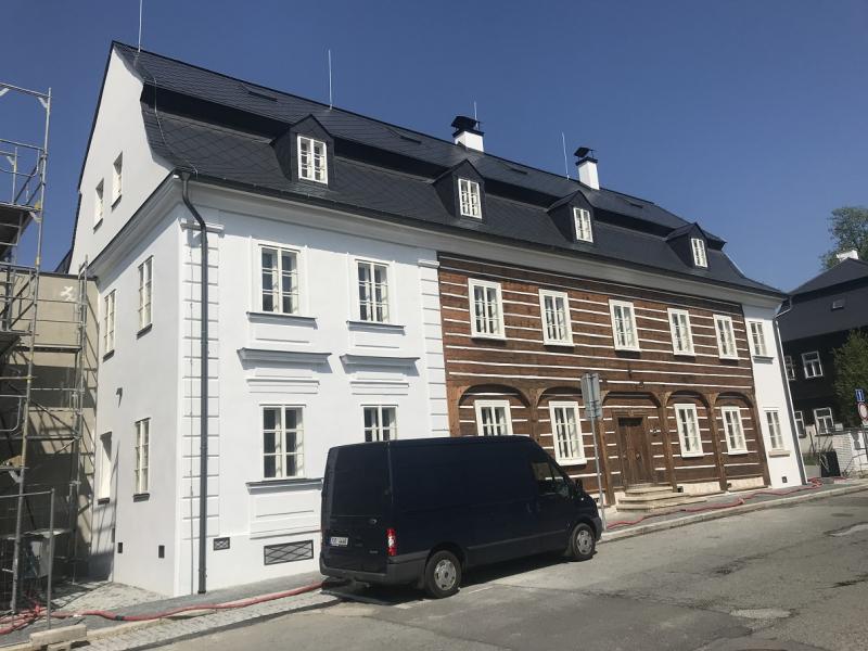 Rekonstrukce památkově chráněného domu v Novém Boru, jenž se stane sídlem sklářské společnosti Lasvit<br />Autor: Archiv KÚ Libereckého kraje