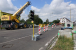 Aktuální stav rekonstrukce Nádražní ulice v Turnově