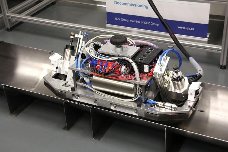 Robotické zařízení, které má pomoci s detekcí radioaktivity při dekontaminaci<br />Autor: Archiv Technická univerzita Liberec