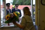 Rozloučení semilských hasičů s končící Ilonou Králíčkovou