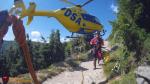 Záchrana turisty v horních partiích Obřího dolu