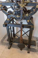 Původní hodinový stroj z muzejní věže