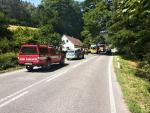 Dopravní nehoda v Záskalí, které je součástí Hodkovic nad Mohelkou