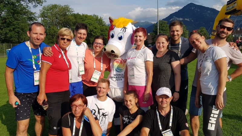 Lomničtí sokolové se poprvé zúčastnili celosvětové akce Gymnaestráda v rakouském Dornbirn<br />Autor: Archiv T. J. Sokol Lomnice n. P. a World Gymnaestrada