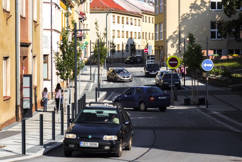 Rekonstruovaná Komenského ulice v Nové Pace<br />Autor: Archiv Navimedia