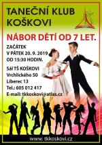 Nábor dětí - taneční klub Koškovi Liberec