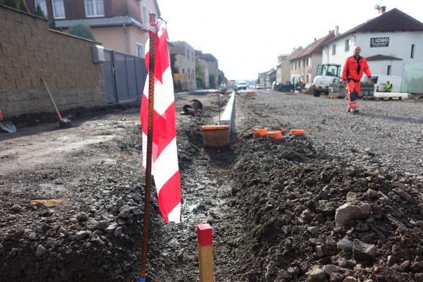 Aktuální stav rekonstrukce Nádražní ulice v Turnově v polovině září 2019<br />Autor: Zdenka Štrauchová
