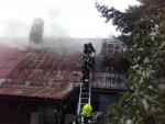Požár domu v Lomnici nad Popelkou