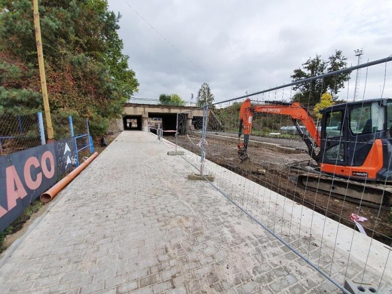 Rekonstrukce Nádražní ulice v Turnově v říjnu 2019<br />Autor: Zdenka Štrauchová