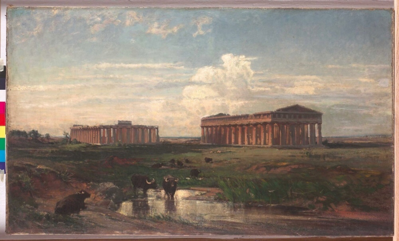 Wilhelm Riedel - Krajina s antickými chrámy - 1862<br />Autor: Archiv KÚ Libereckého kraje