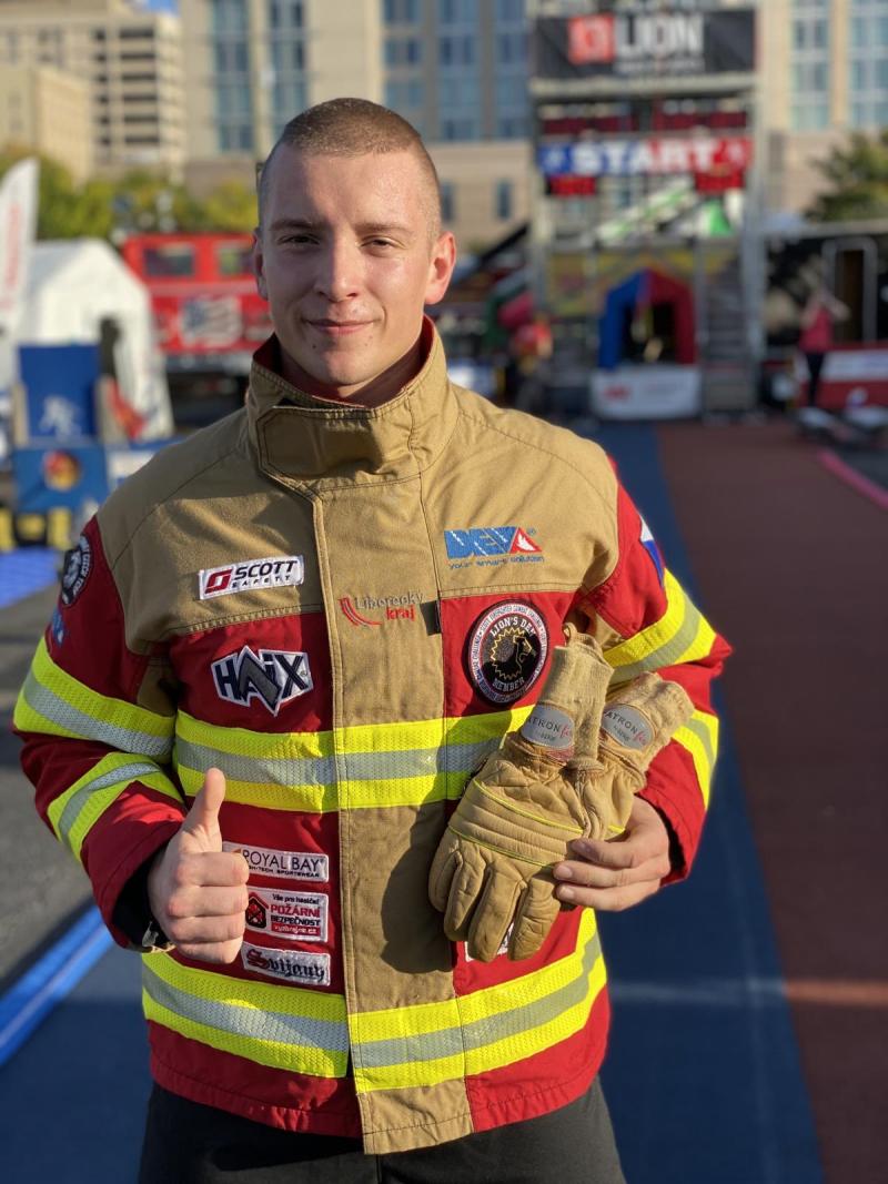 Jan Pipiš na závodech Firefighter Combat Challenge v Alabamě