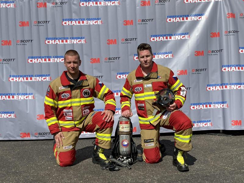 Jan Pipiš na závodech Firefighter Combat Challenge v Alabamě<br />Autor: Archiv Jana Pipiše