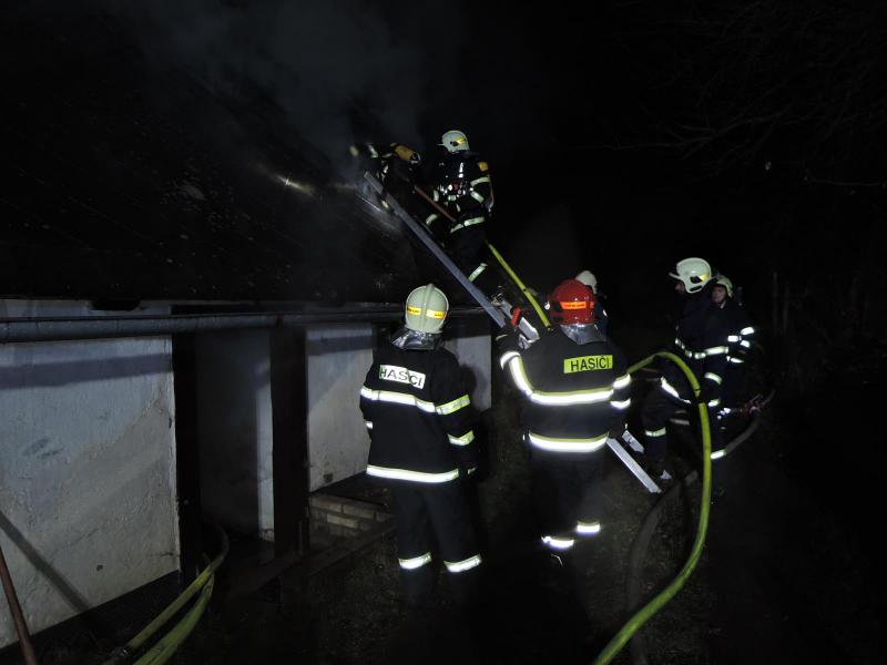 Požár chalupy v Jesenném<br />Autor: HZS Libereckého kraje