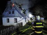Požár chalupy v Jesenném