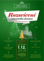 Pozvánka na slavnostní rozsvícení vánočního stromu v Turnově