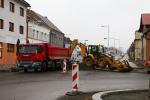 Rekonstrukce Nádražní ulice v Turnově na konci listopadu 2019