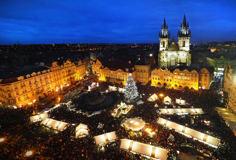 Slavnostní rozsvícení vánočního stromu na Staroměstském náměstí v Praze<br />Autor: Archiv Taiko, a. s.