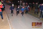 Mikulášský běh dětí v semilském parku Ostrov