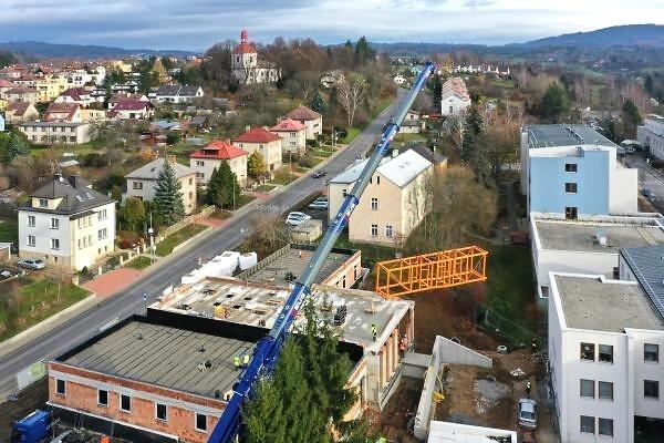 Výstavba Alzheimer centra v Turnově na začátku prosince 2019