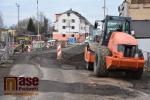 Rekonstrukce Nádražní ulice v Turnově na začátku prosince 2019
