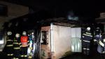 Požár přístřešku rodinného domu v Turnově
