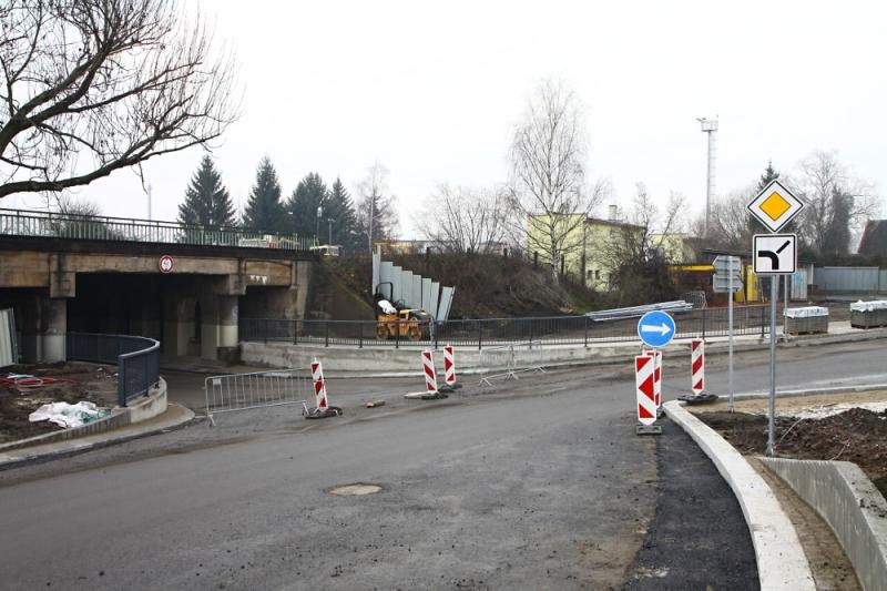 Rekonstrukce Nádražní ulice v Turnově ve druhé polovině prosince 2019