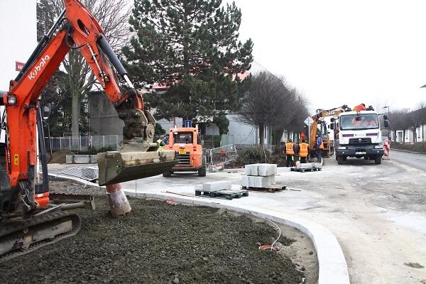 Rekonstrukce Nádražní ulice v Turnově ve druhé polovině prosince 2019<br />Autor: Zdenka Štrauchová