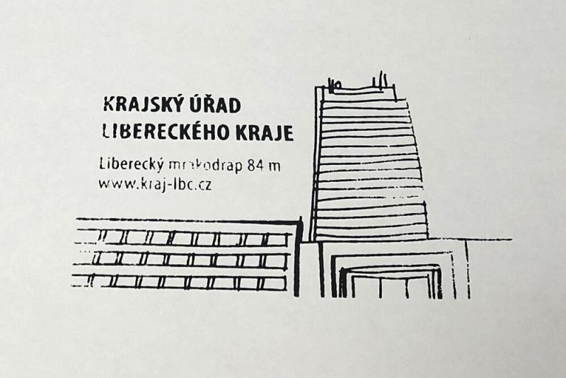 Turistická razítka v sídle Krajského úřadu Libereckého kraje