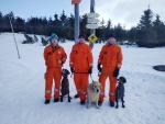 Sjezd hasičských kynologů na Vosecké Boudě v Krkonoších