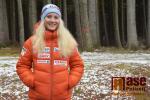 Kateřina Janatová při rozhovoru ve sportovním areálu Hraběnka v Jilemnici