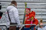 Kateřina Janatová při závodě SP v Novém Městě na Moravě
