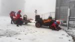 Záchrana mladého páru na cestě pod vrcholem Sněžky